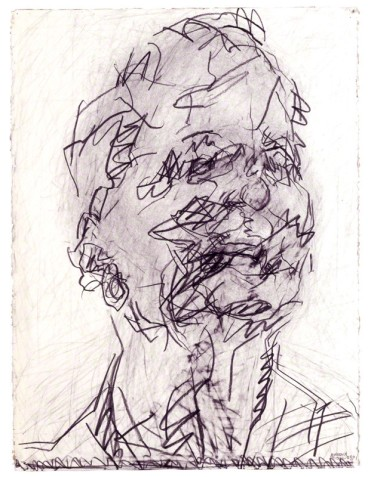 by Frank Auerbach, pencil and graphite, 1994-2001