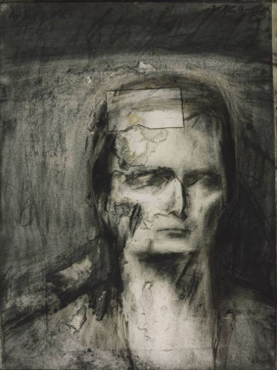 Head of EOW 1960 Charcoal on paper